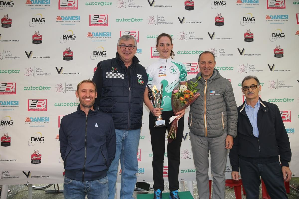 Alice Gasparini campionessa lombarda a cronometro Donne Elite a Romanengo (foto Soncini)
