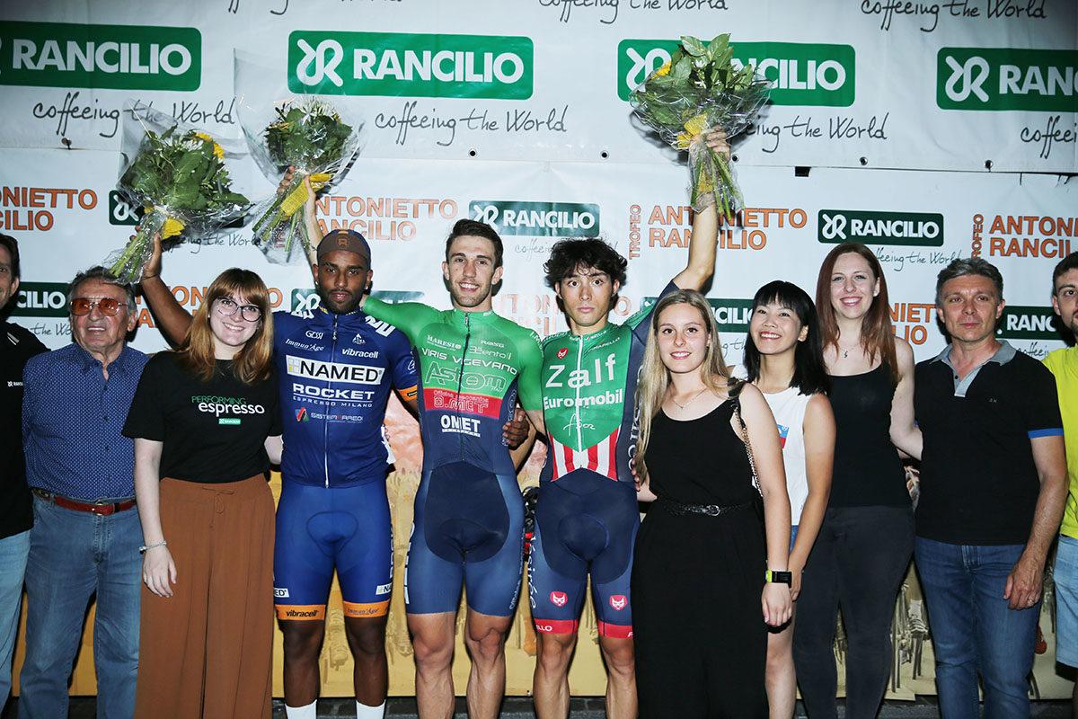 Il podio del Trofeo Rancilio di Parabiago (foto Soncini)