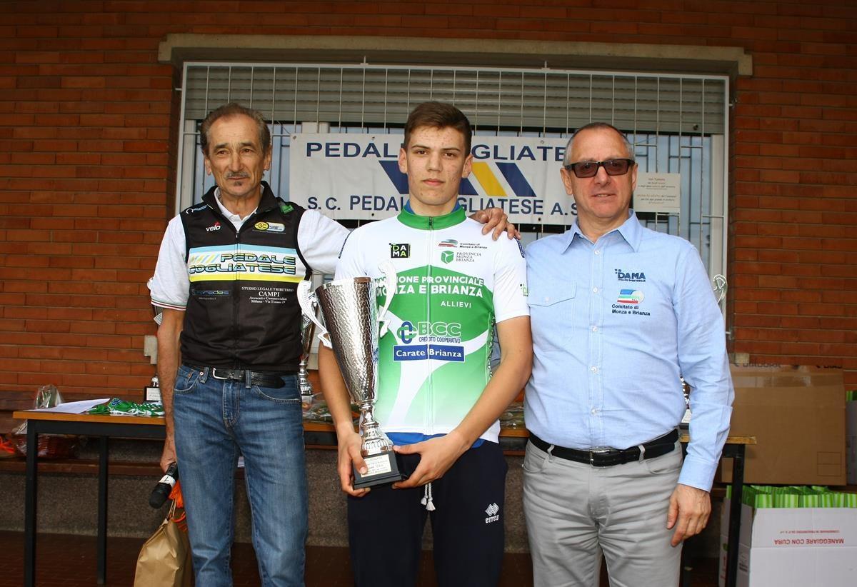 Filippo Vismara è il neo campione provinciale Allievi di Monza e Brianza (foto Berry)