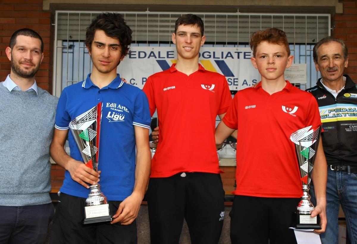 Il podio del 41° Trofeo Comune di Cogliate (foto Berry)