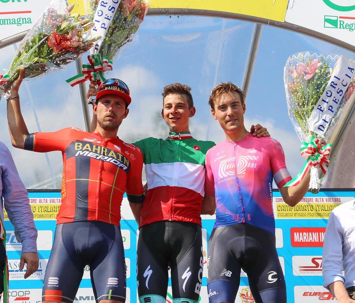 Campionato Italiano professionisti 2019 vinto da Davide Formolo (foto Photobicicailotto)