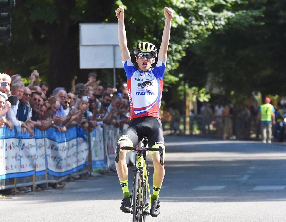 Gianmarco Garofoli vince il Campionato Italiano Juniores 2019 a Città di Castello (foto Rodella)