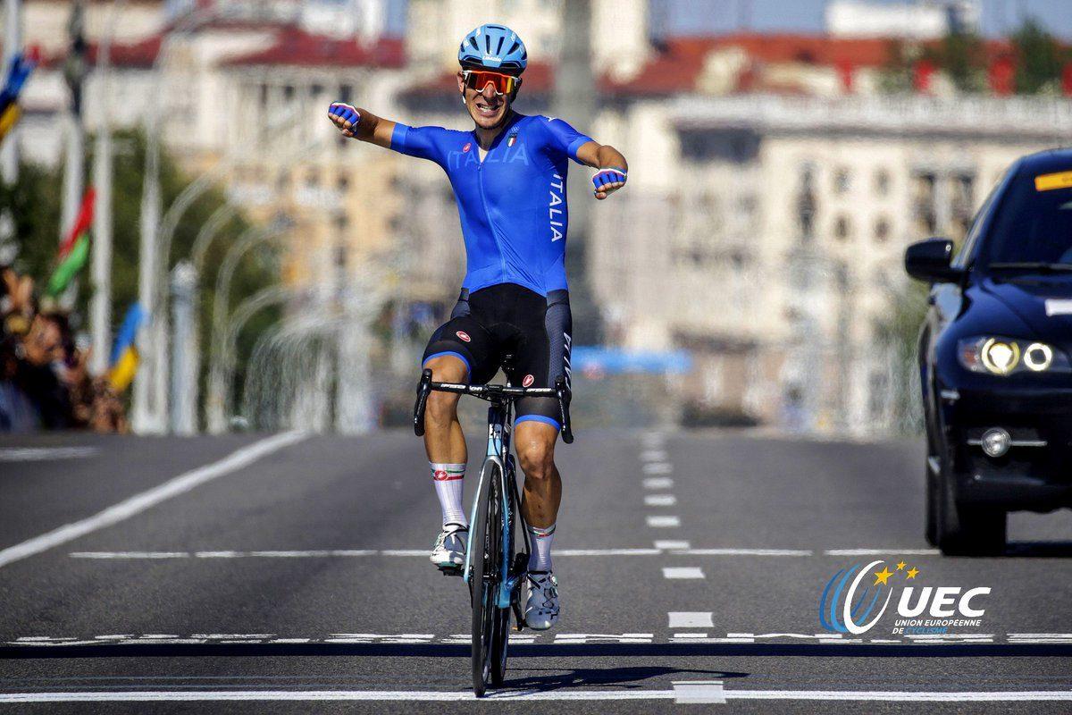 Davide Ballerini vince la prova in linea degli European Games Minsk 2019 (foto Anton Vos/BettiniPhoto)