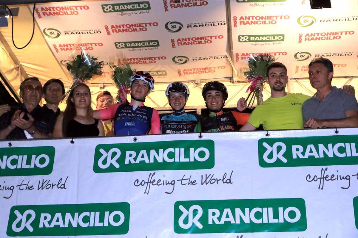 Il podio del 3° Trofeo Rancilio Ladies (foto Fabiano Ghilardi)