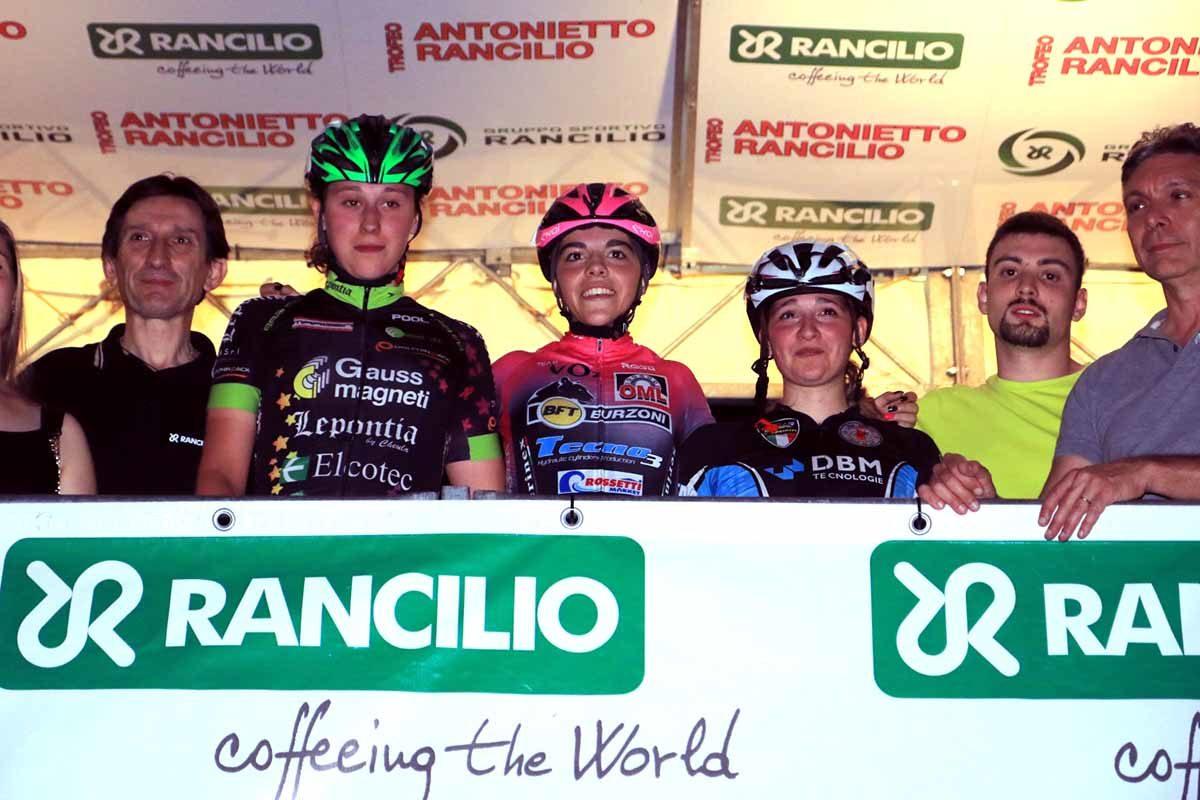 Il podio Donne Junior del Trofeo Rancilio Ladies 2019 (foto Fabiano Ghilardi)