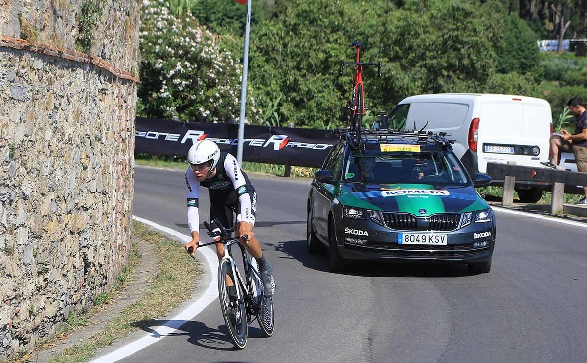 Antonio Puppio in azione al Campionato Italiano a cronometro U23 (foto Fabiano Ghilardi)