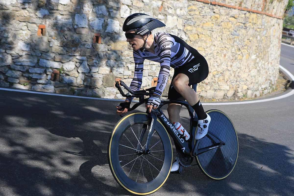 Giovanni Aleotti in azione al Campionato Italiano a cronometro U23 (foto Fabiano Ghilardi)