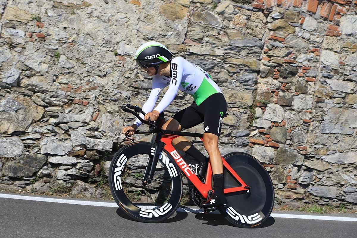 Matteo Sobrero in azione al Campionato Italiano a cronometro U23 (foto Fabiano Ghilardi)