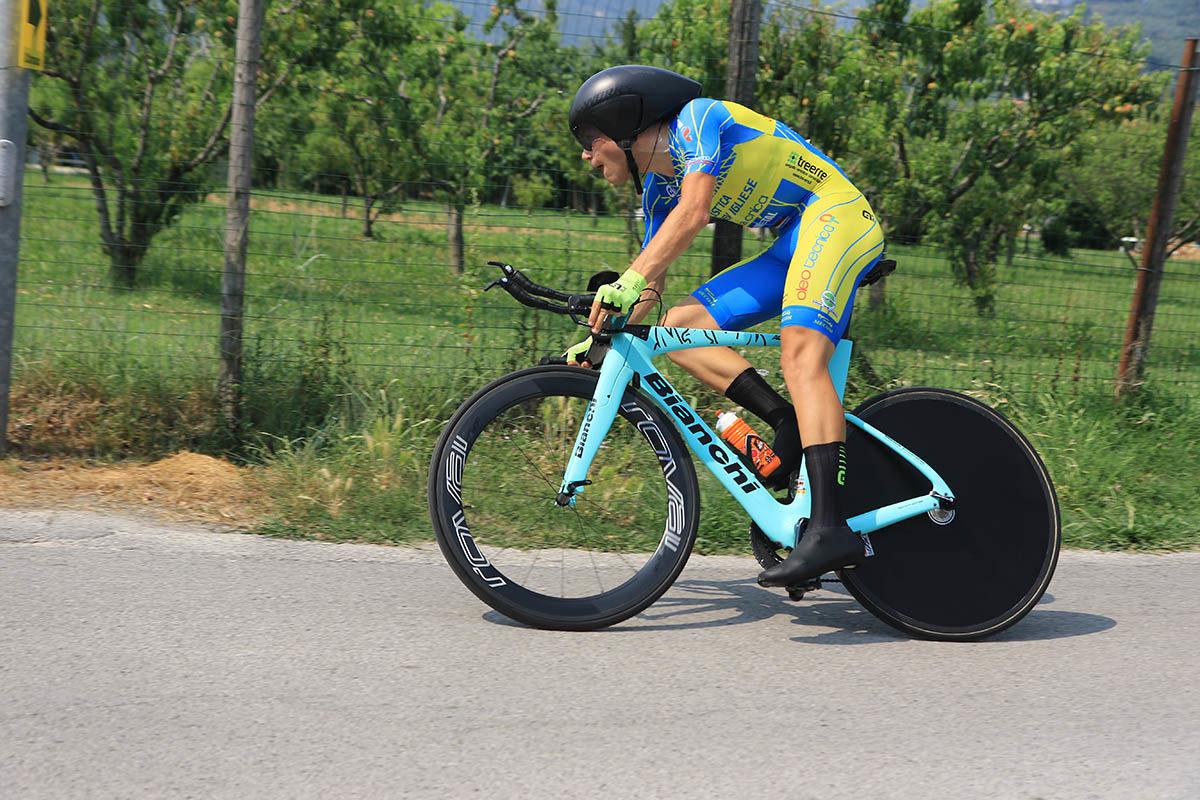 Lorenzo Milesi in azione al Campionato Italiano a cronometro Juniores (foto Fabiano Ghilardi)