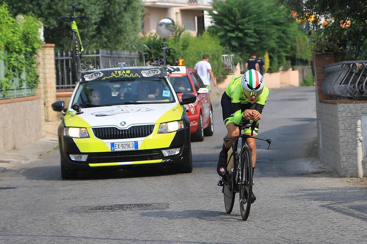 Andrea Piccolo in azione al Campionato Italiano a cronometro Juniores (foto Fabiano Ghilardi)