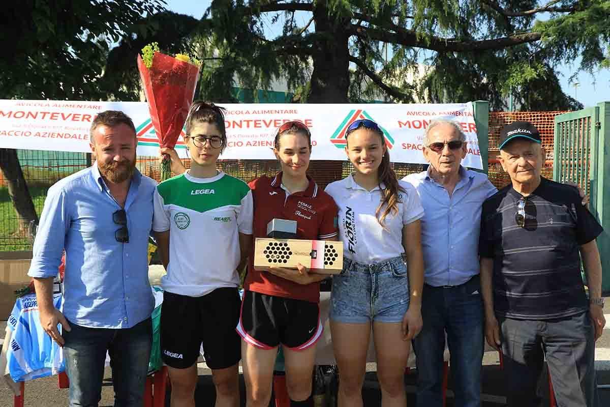 Il podio della cronometro Donne Allieve di Ospitaletto (foto Fabiano Ghilardi)