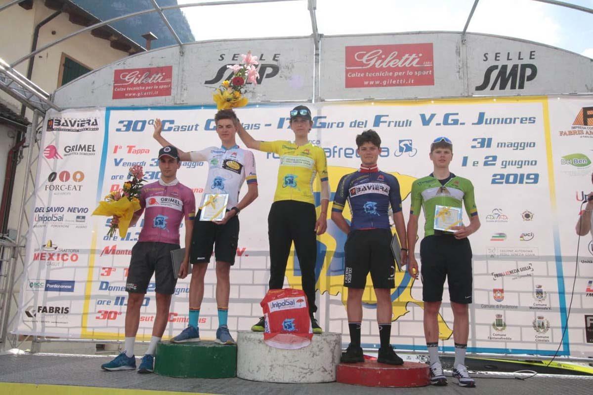 Le maglie finali del Giro del Friuli 2019 (foto Bolgan)