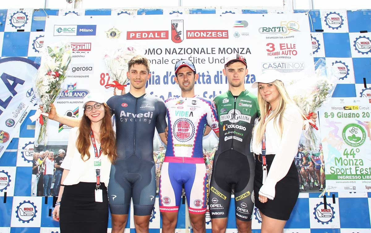 Il podio della Medaglia d'Oro Città di Monza 2019 (foto Berry)