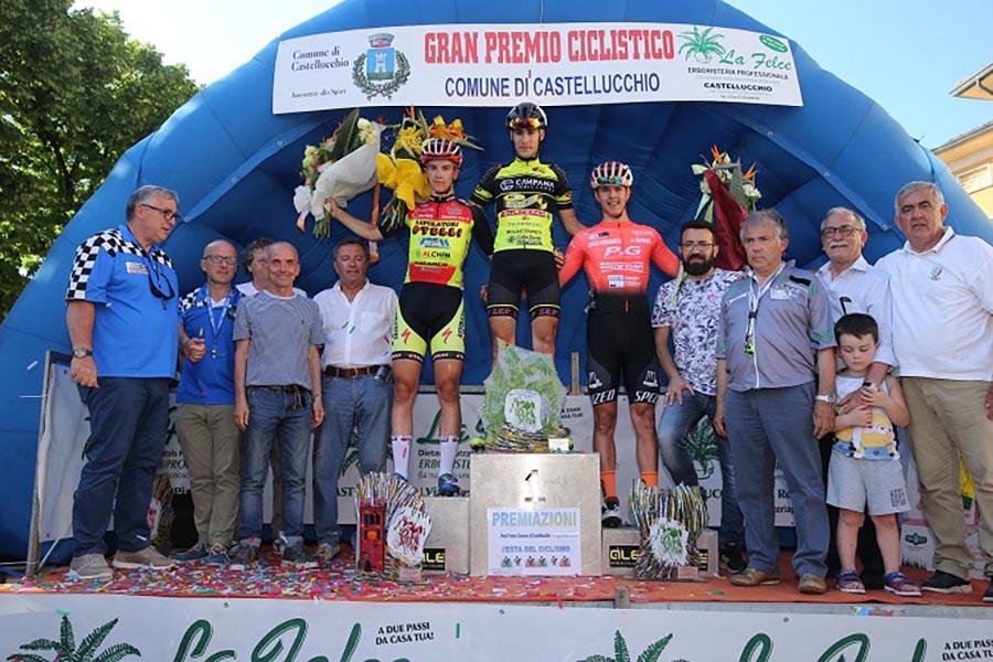 Il podio del Trofeo Comune di Castellucchio (foto Soncini)