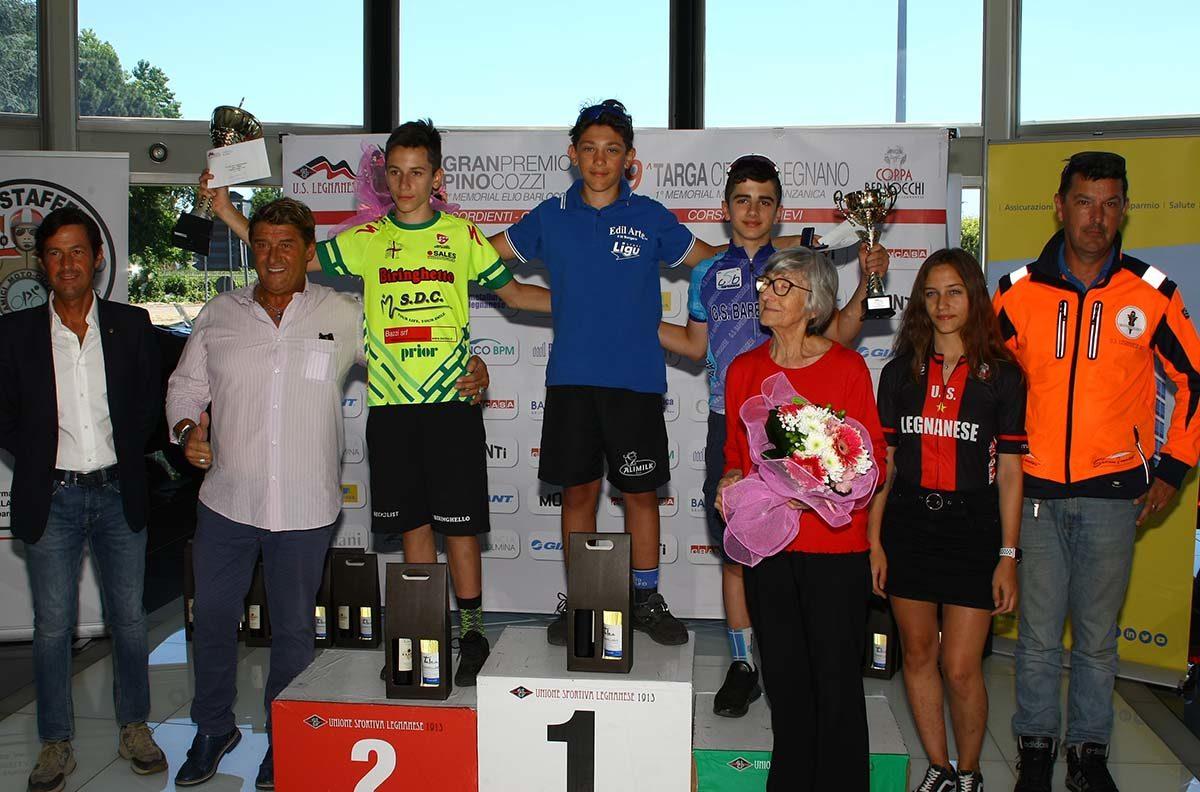 Il podio Esordienti 1° anno di Legnano (foto Berry)