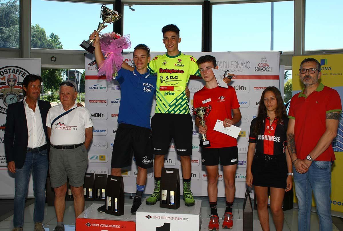 Il podio Esordienti 2° anno di Legnano (foto Berry)