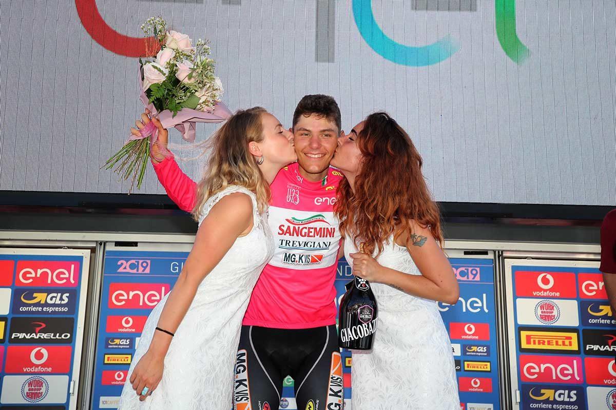 Fabio Mazzucco è la nuova maglia rosa del Giro d'Italia U23 (foto Isolapress)