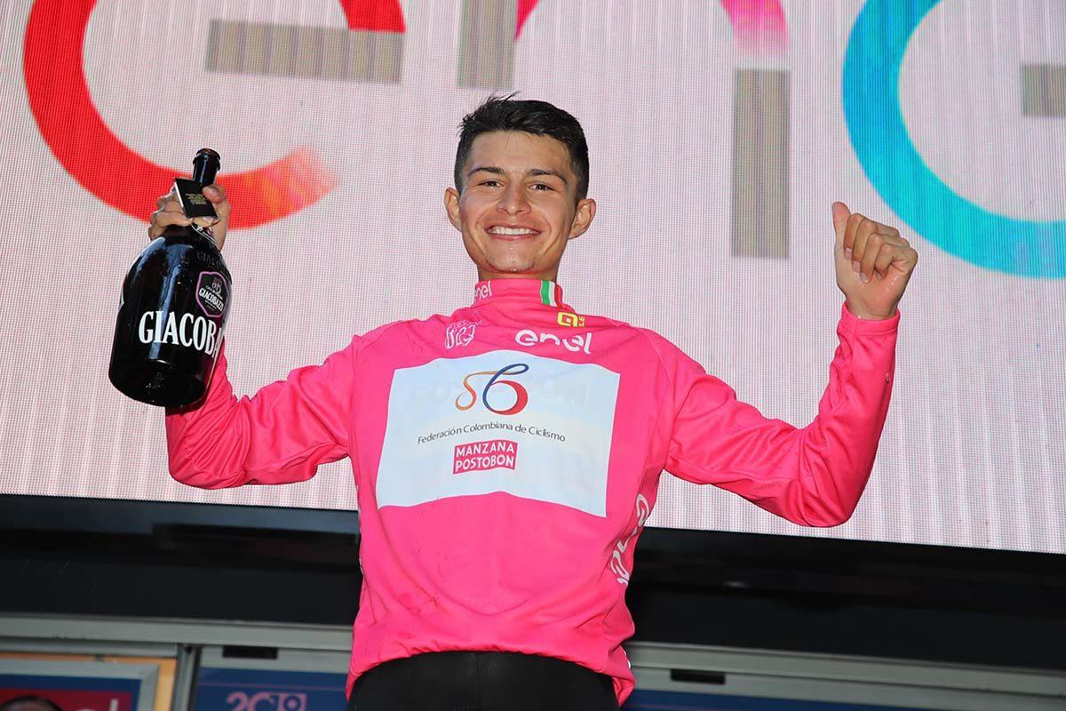 Andres Camilo Ardila nuova maglia rosa al Giro U23 (foto Isolapress)