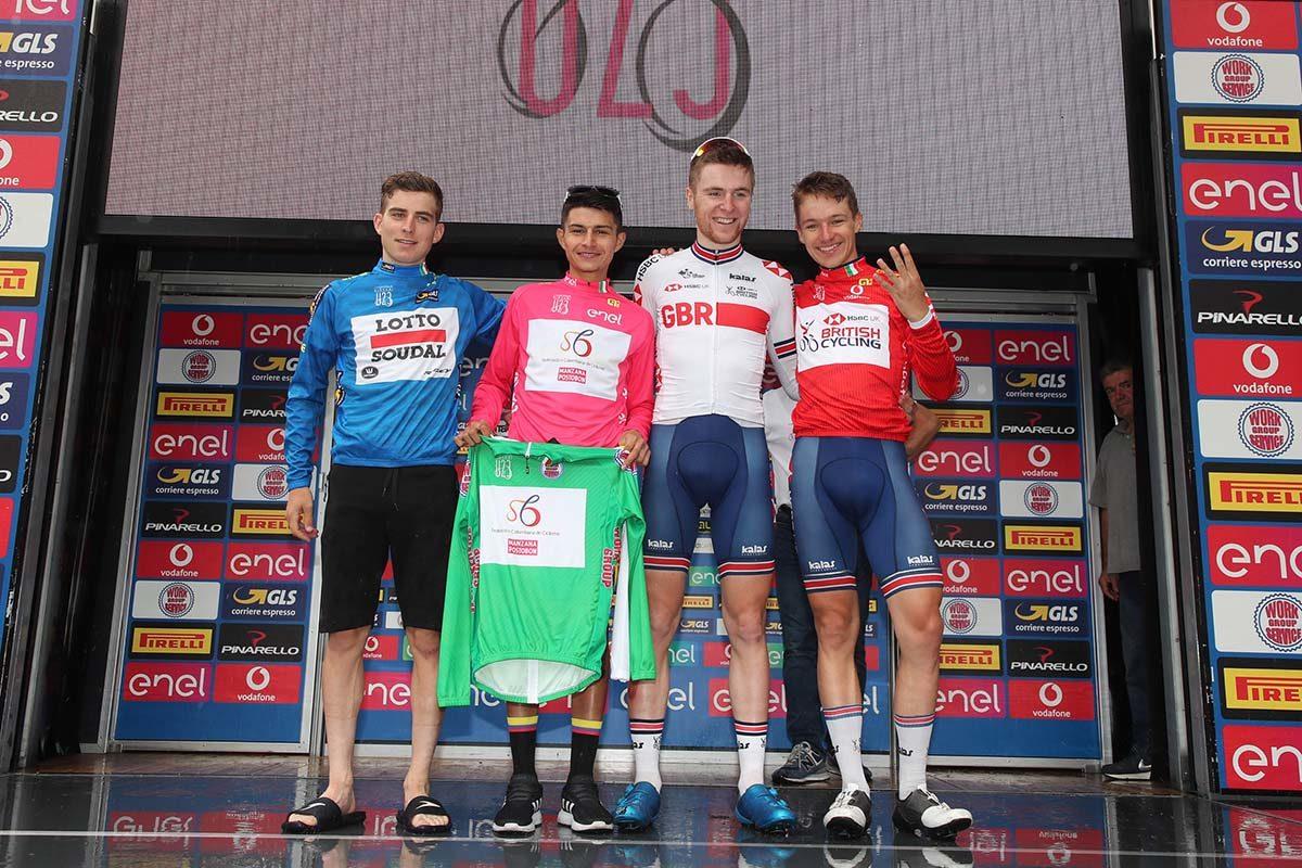Le maglie dopo la settima tappa del Giro d'Italia U23 (foto Isolapress)
