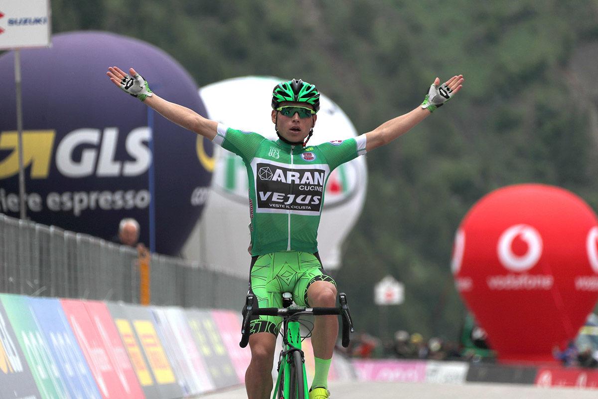 Einer Augusto Rubio Reyes vince l'ultima tappa del Giro d'Italia Under 23 2019 (foto Isolapress)