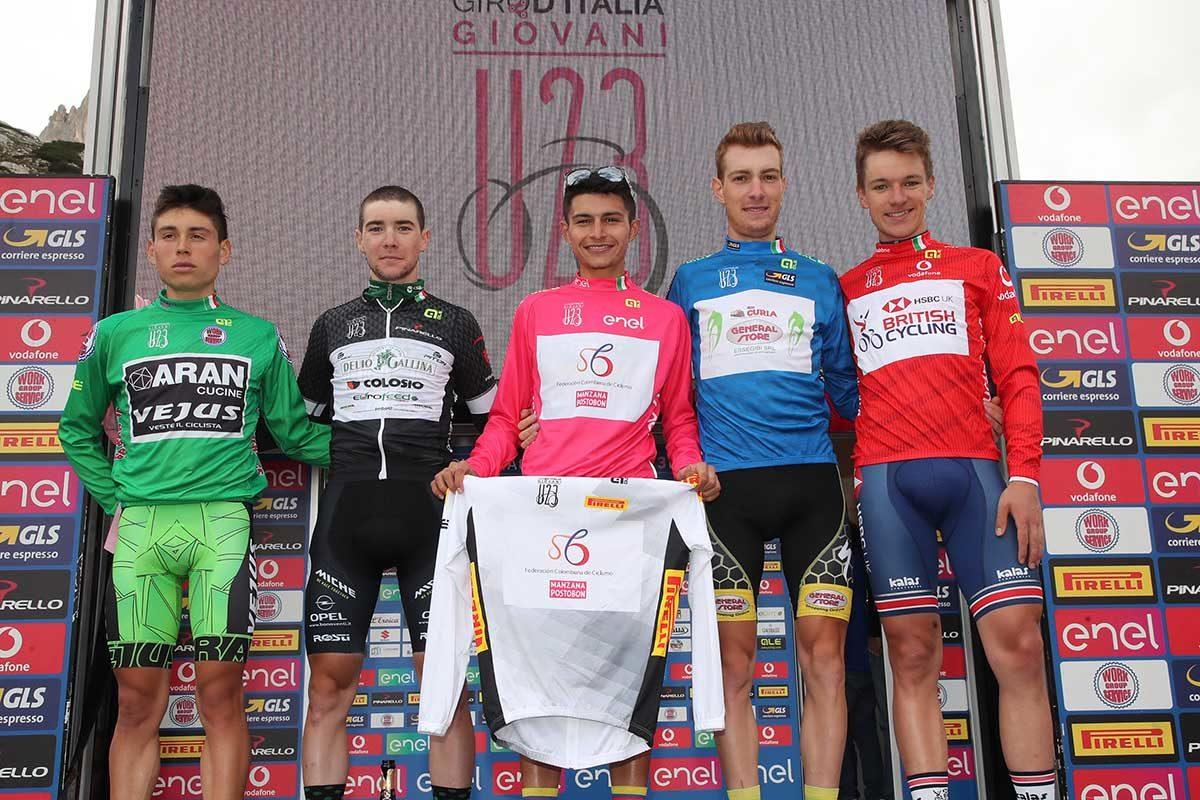 Tutte le maglie finali del Giro d'Italia Under 23 2019 (foto Isolapress)