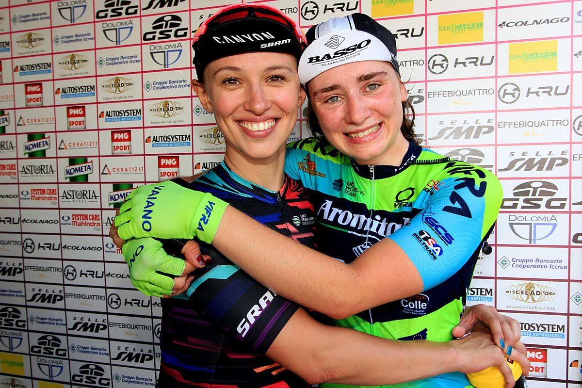 Letizia Borghesi felice con Kasia Niewiadoma