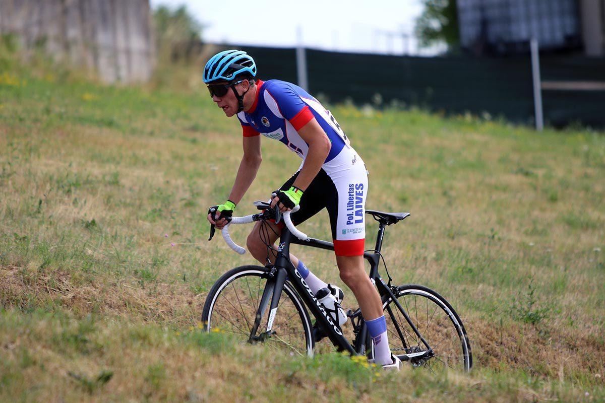 Christian Moser terzo classificato nella Cronoscalata a Cerro Veronese per Allievi (foto Photobicicailotto)