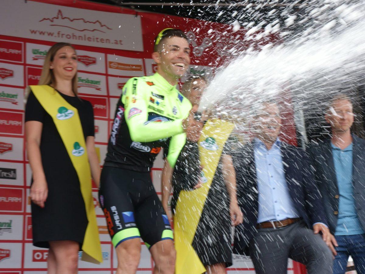 Giovanni Visconti vincitore della quarta tappa del Giro d'Austria