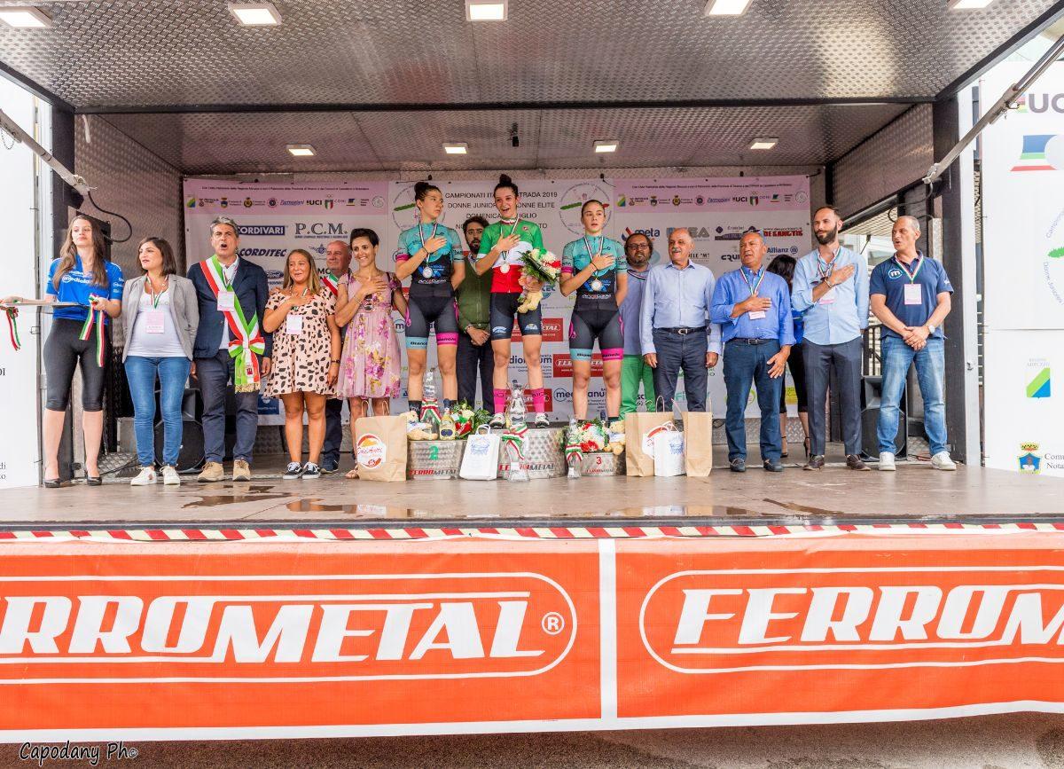 La premiazione del Campionato Italiano Donne Junior