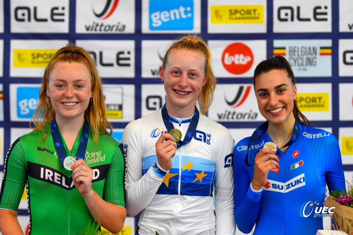 Camilla Alessio bronzo nell'Inseguimento individuale Donne Junior (foto UEC/BettiniPhoto)