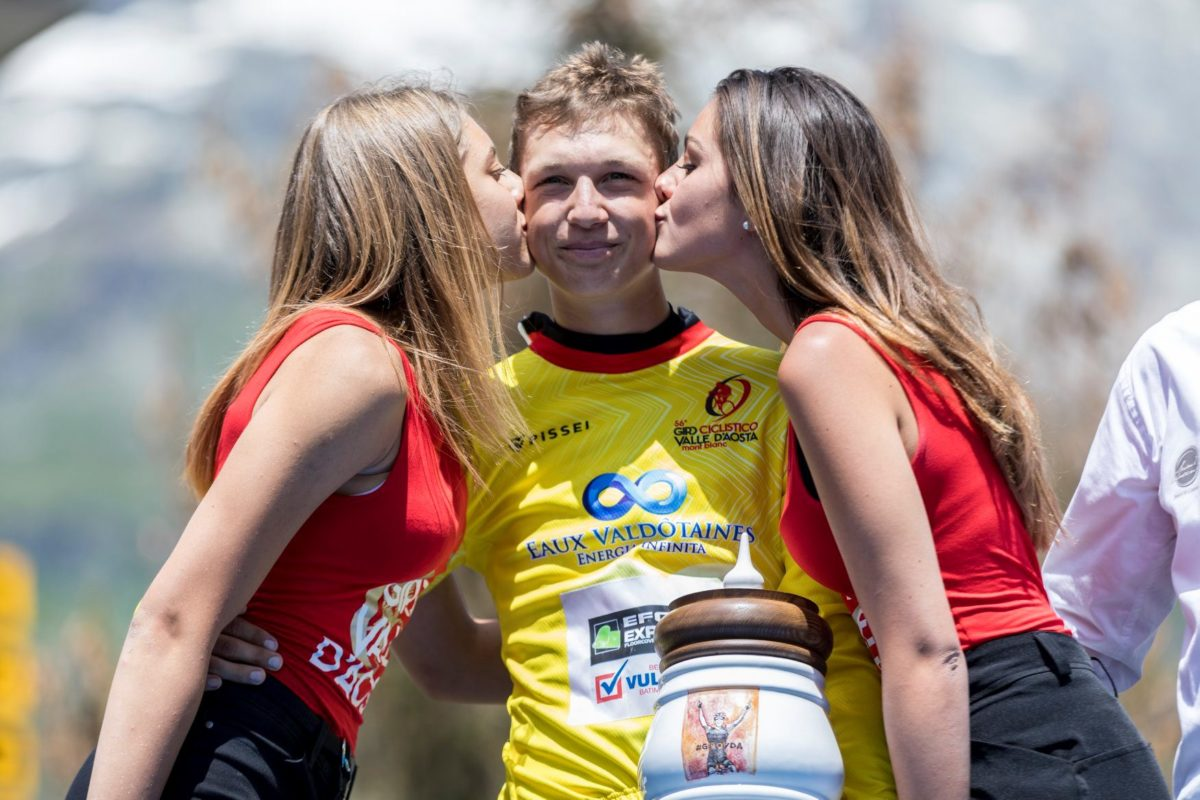 Il belga Mauri Vansevenant vincitore del Giro Valle d'Aosta 2019 (foto Giro VdA)