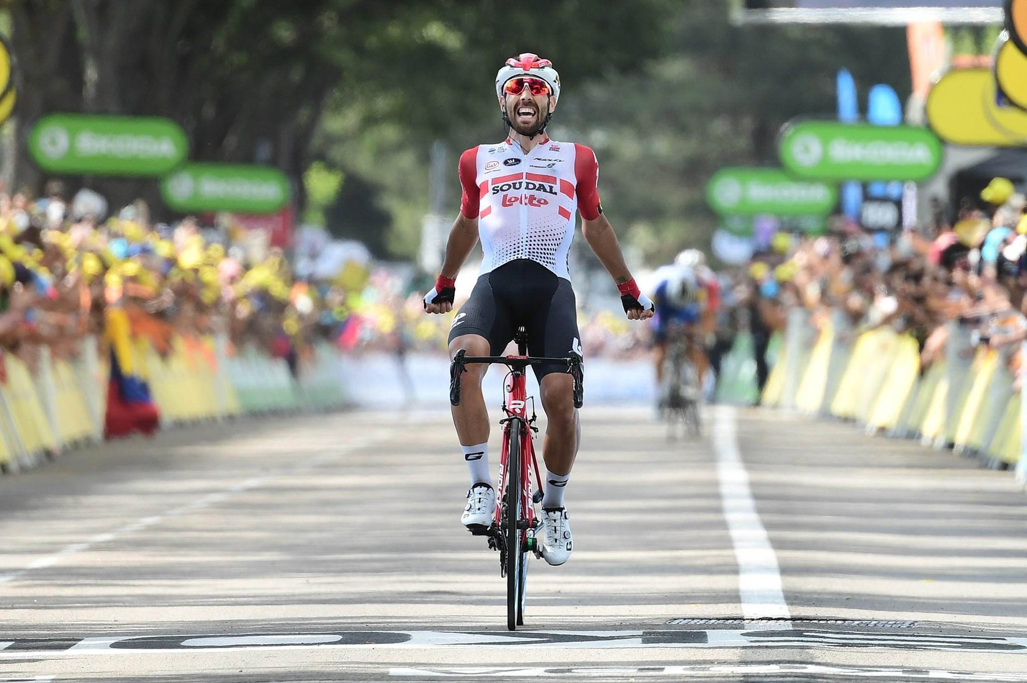 Impresa di Thomas De Gendt nell'ottava tappa del Tour de France ...