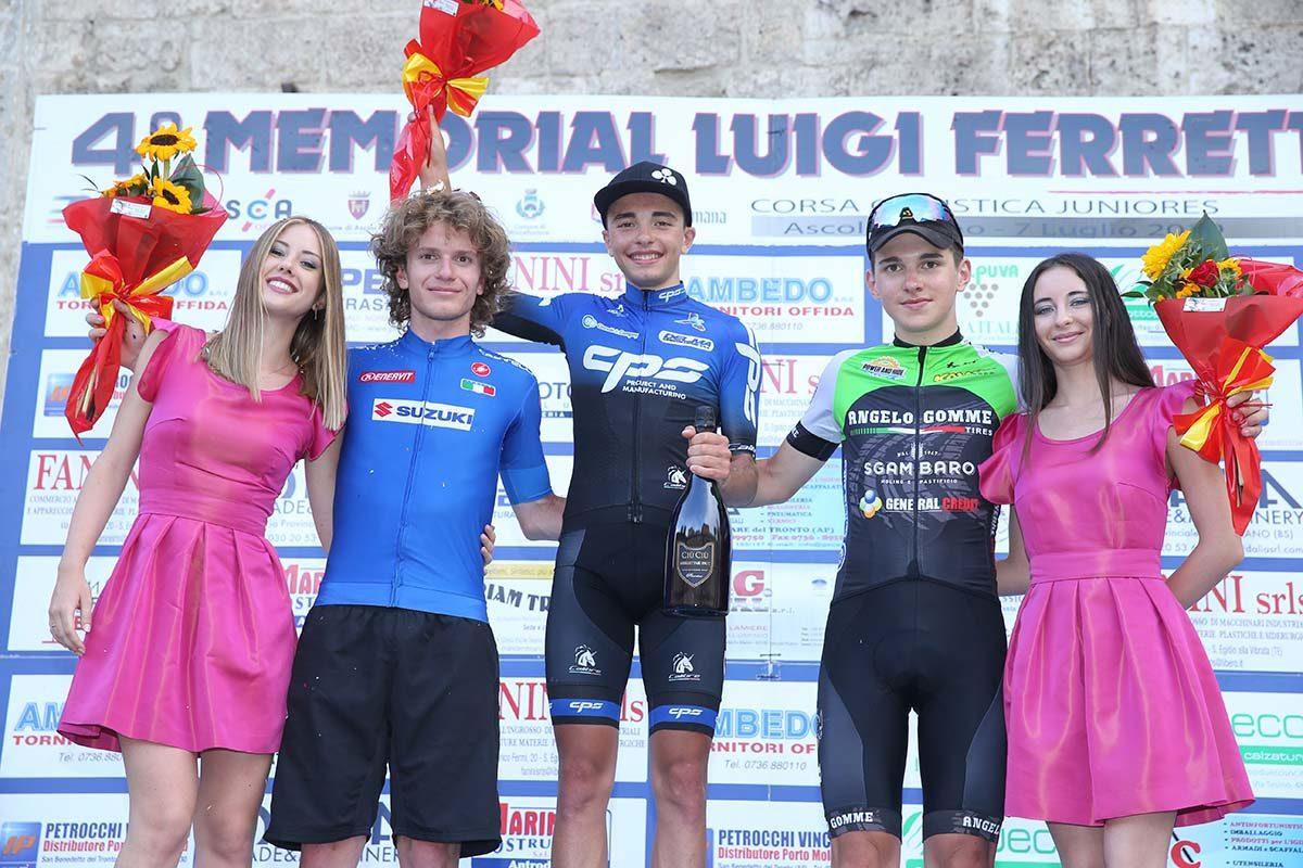 Il podio di Ascoli Piceno (foto Soncini)