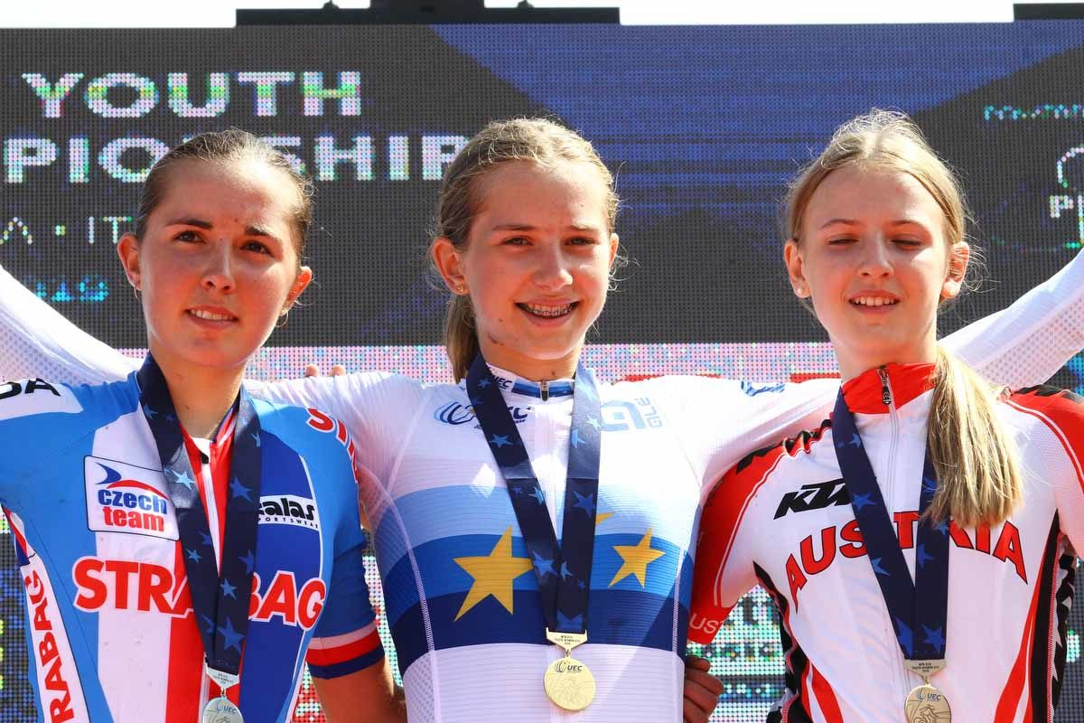 Campionati Europei Giovanili XCO Pila 2019, podio donne U15