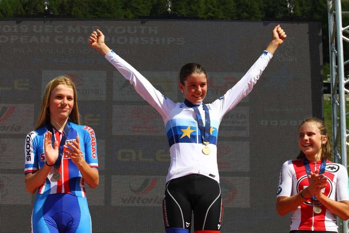 Campionati Europei Giovanili XCO Pila 2019, podio donne U17