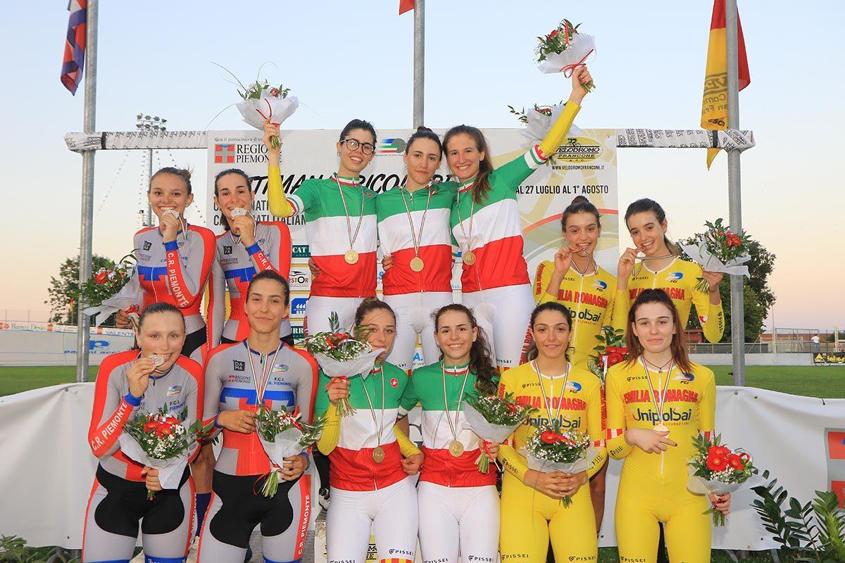Campionato Italiano Inseguimento a squadre Donne Allieve (foto Fabiano Ghilardi)