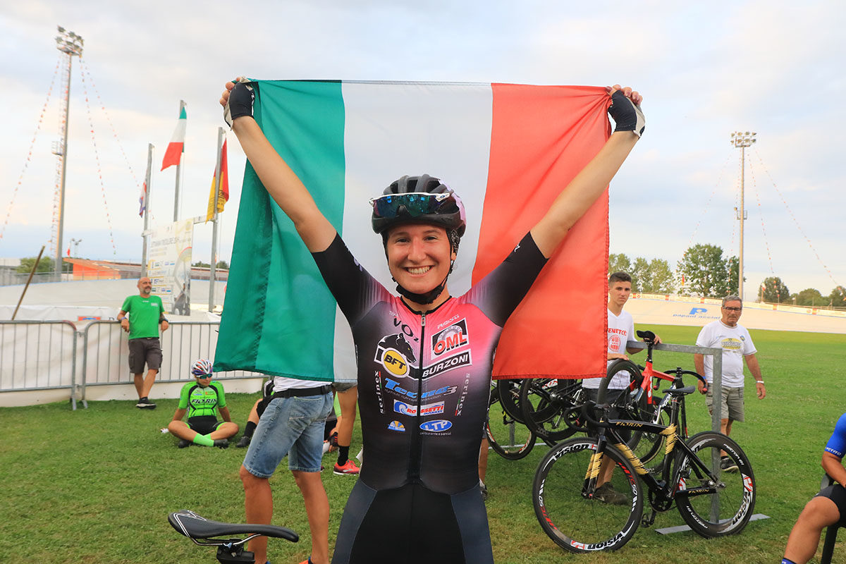 Silvia Bortolotti campionessa italiana Omnium Endurance tra le Donne Allieve (foto Fabiano Ghilardi)