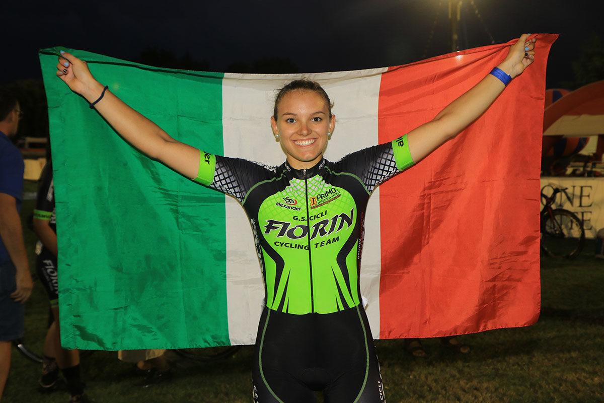 Sara Fiorin campionessa italiana Omnium Sprint tra le Donne Allieve (foto Fabiano Ghilardi)