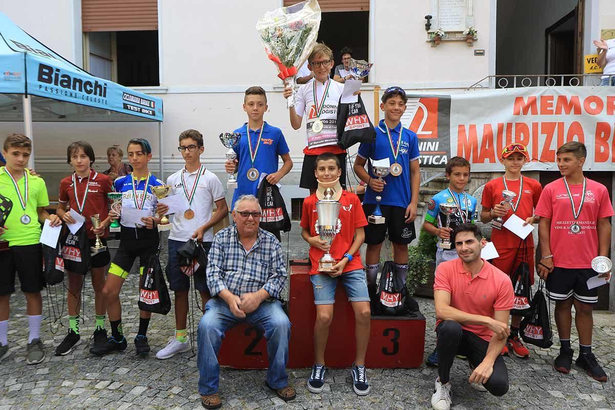 Premiazione Esordienti 1° anno a Fomarco (foto Fabiano Ghilardi)