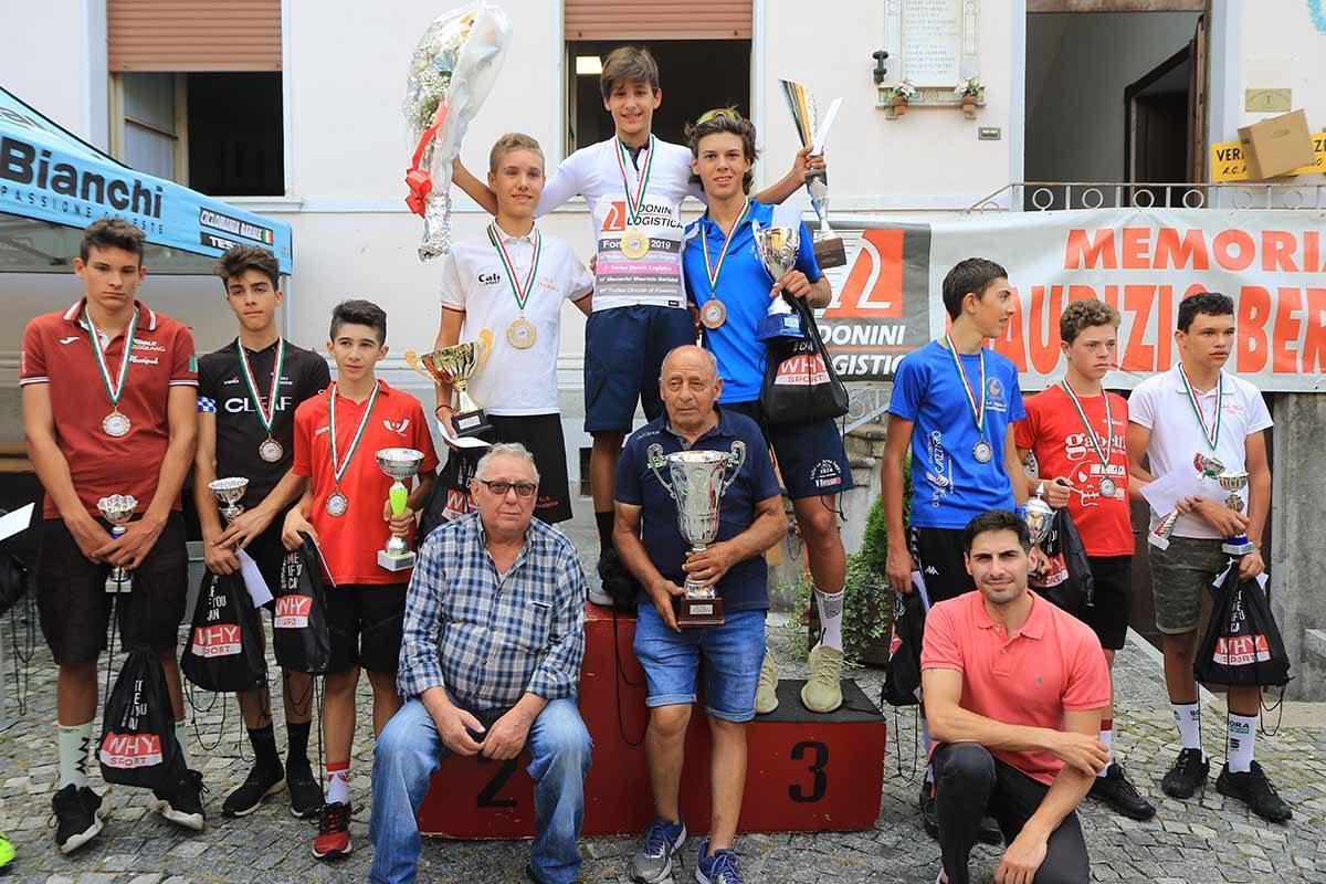 Premiazione Esordienti 2° anno a Fomarco (foto Fabiano Ghilardi)