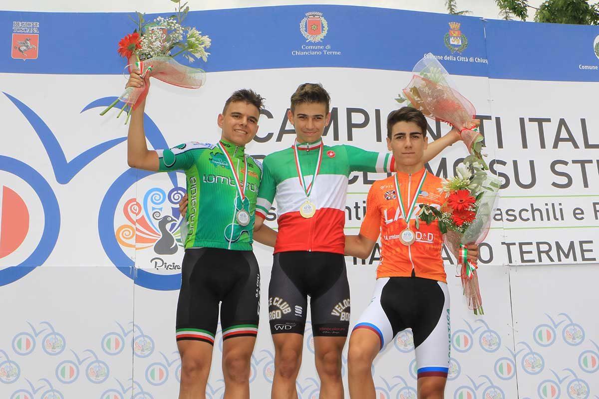 Campionato Italiano Esordienti 2° anno vinto a Chianciano Terme da Thomas Capra (foto Fabiano Ghilardi)