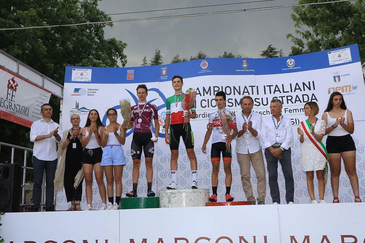 Le premiazioni del Campionato Italiano Allievi 2019 (foto Fabiano Ghilardi)