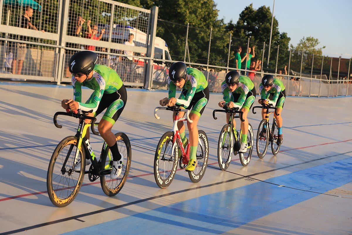 Il quartetto Allievi della Lombardia in azione (foto Fabiano Ghilardi)
