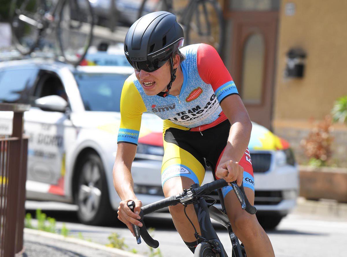Mathias Vacek in azione della prova a cronometro della Challenge Nazionale Bresciana Giancarlo Otelli(foto Rodella)