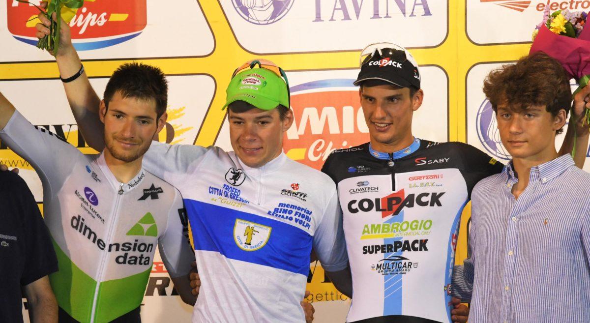 Il podio del Trofeo Città di Brescia 2019 (foto Rodella)