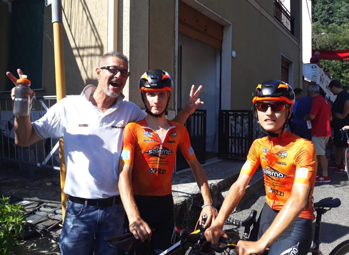 Il presidente Rocco Siviero con i gemelli Galimberti (foto Martina Siviero)