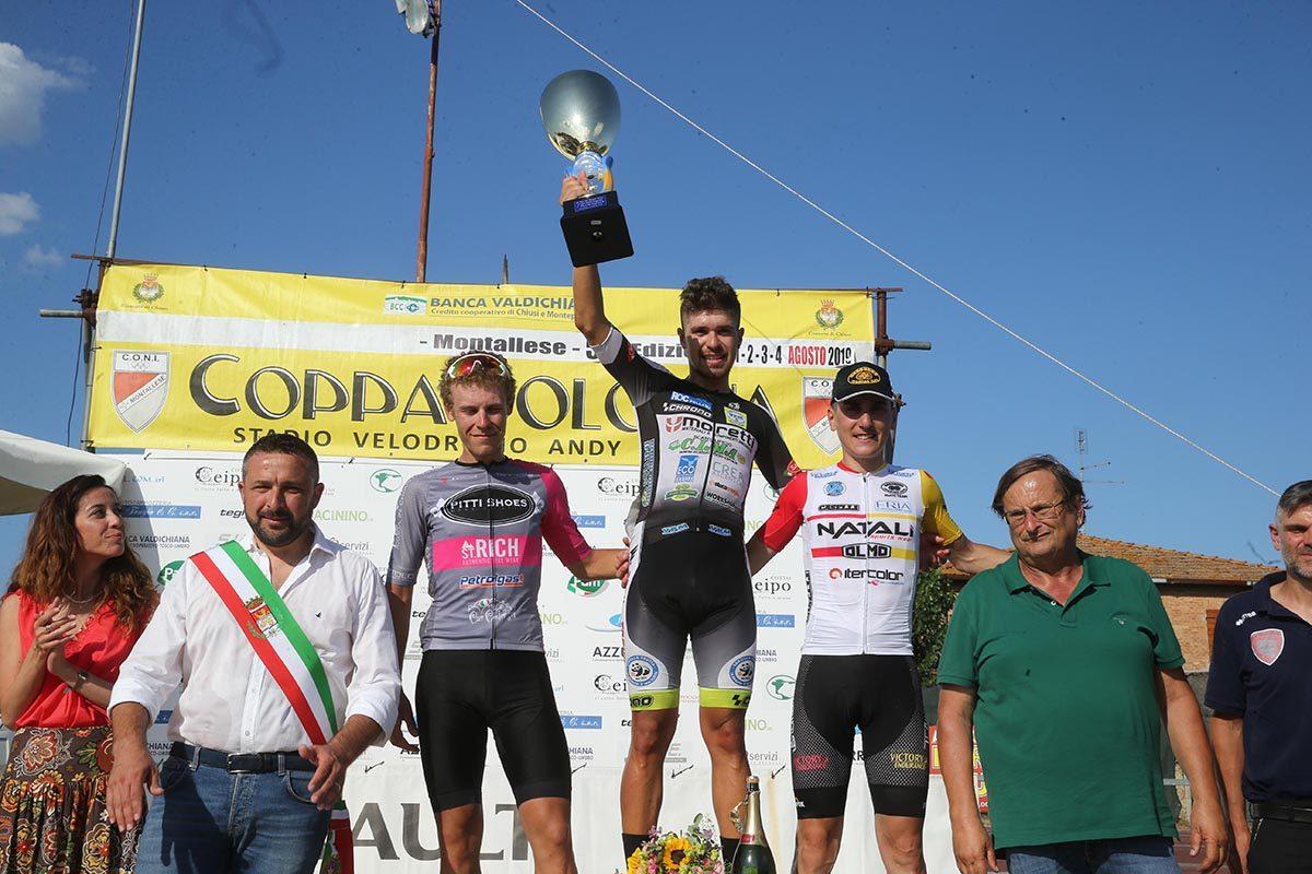 Il podio della Coppa Bologna di Montallese 2019 (foto Soncini)