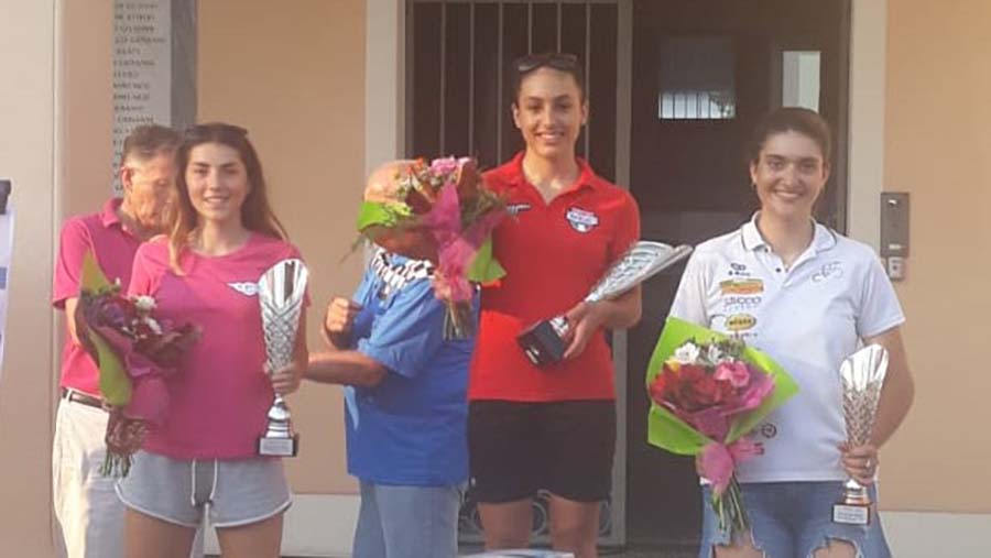 Il podio Donne Junior di Noventa di Piave
