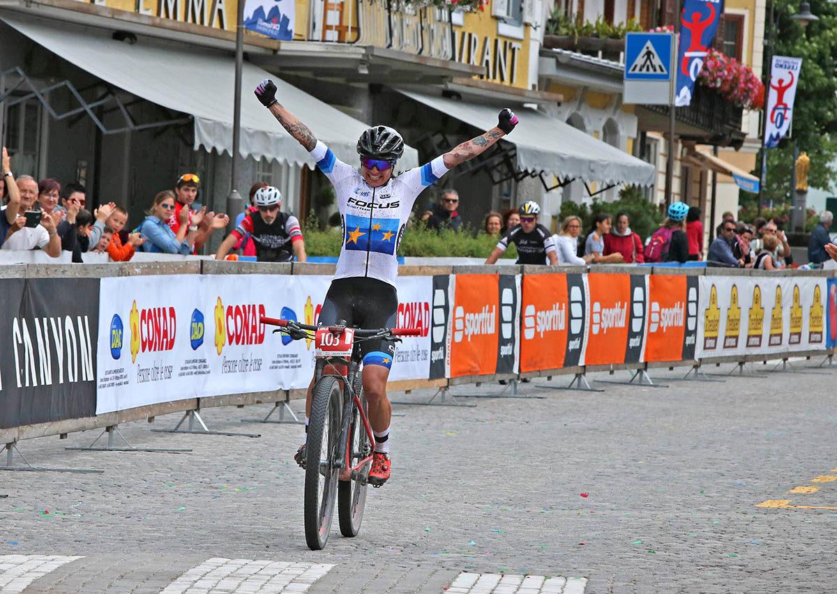 Mara Fumagalli vince la prova femminile della Dolomiti Superbike 2019
