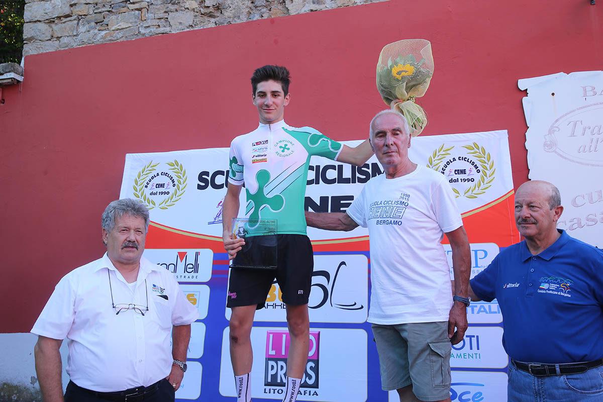 Riccardo Perani campione lombardo Allievi degli scalatori (foto Soncini)